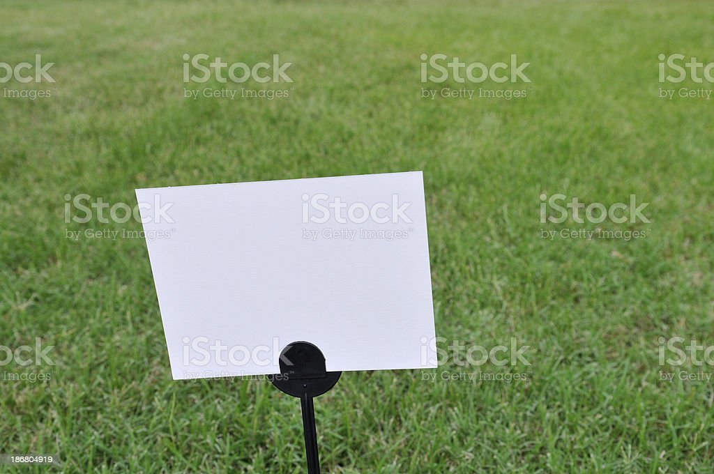 Blank Lawn Care Sign and Grass stock photo