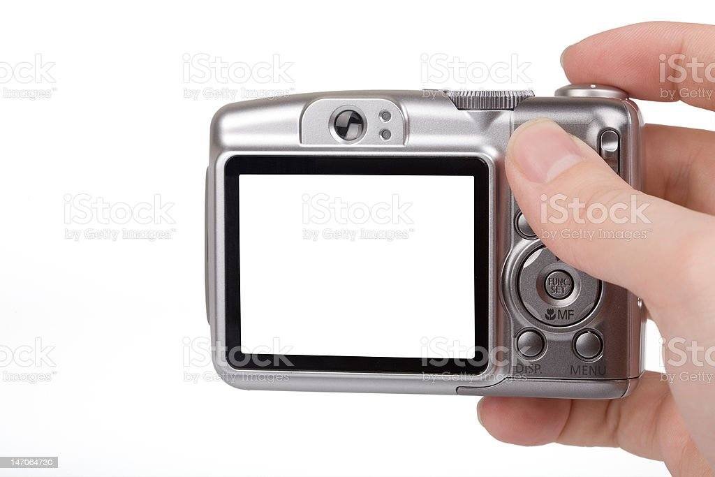 Blank LCD on Camera stock photo