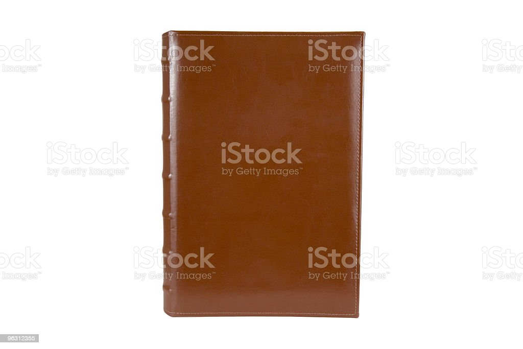 Blank Leather Binder with Clipping Path royalty-free stock photo