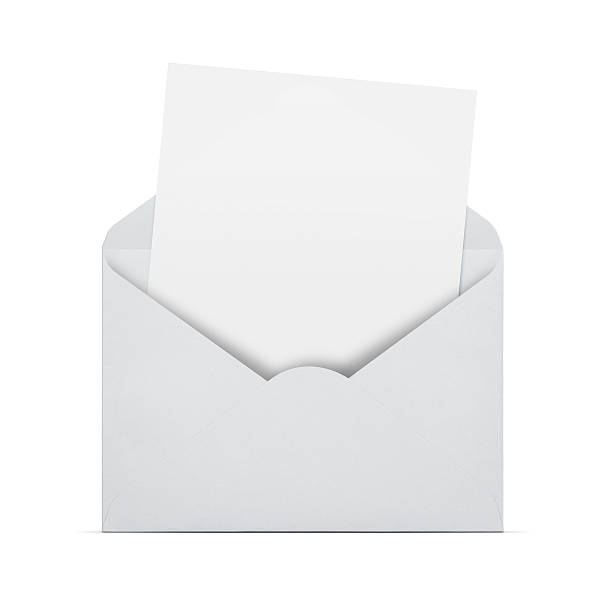 Blank letter in an envelope stock photo