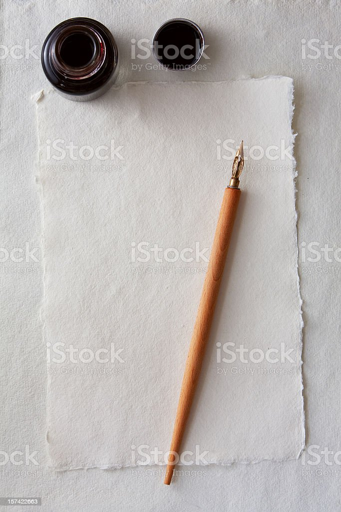 Blank letter old style stock photo