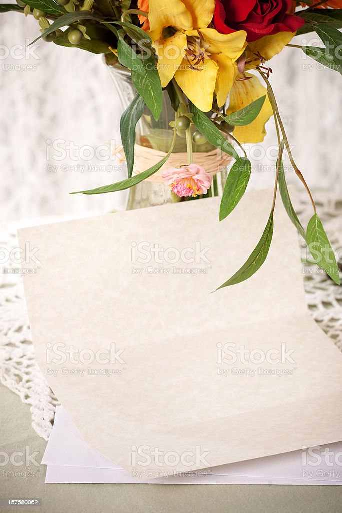 Blank Letter on Elegant Table royalty-free stock photo