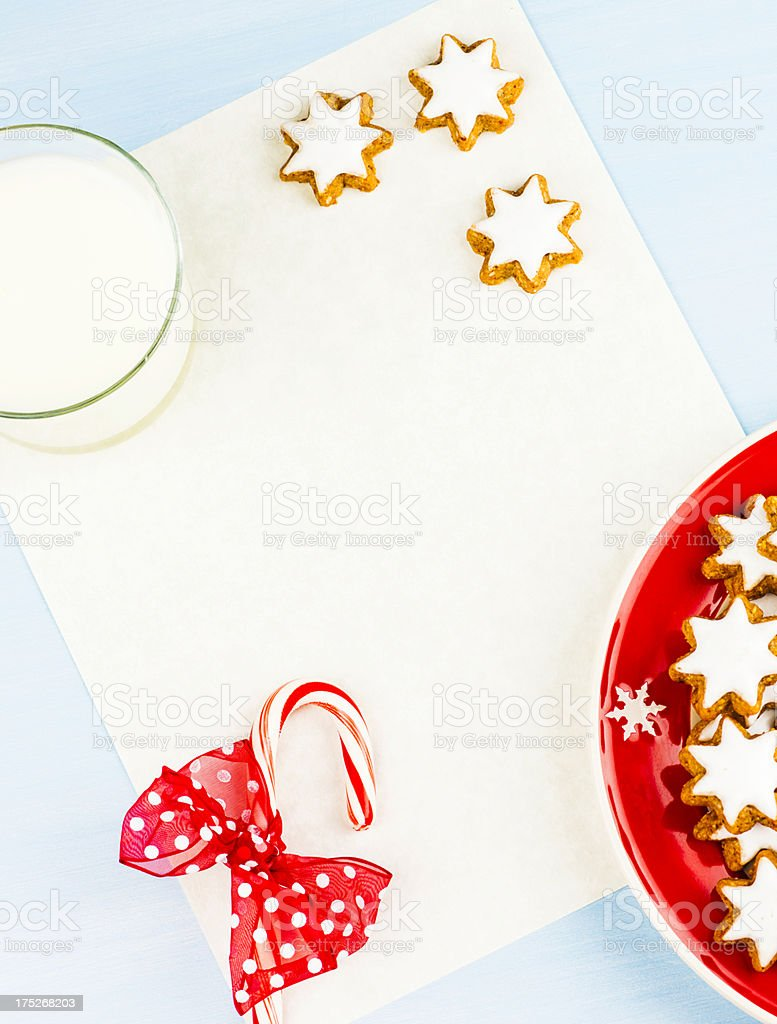 Blank Letter to Santa royalty-free stock photo