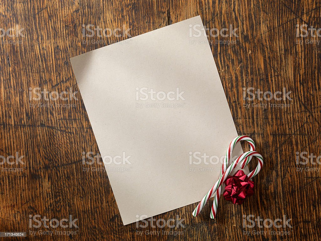 Blank Letter with Candy Canes stock photo