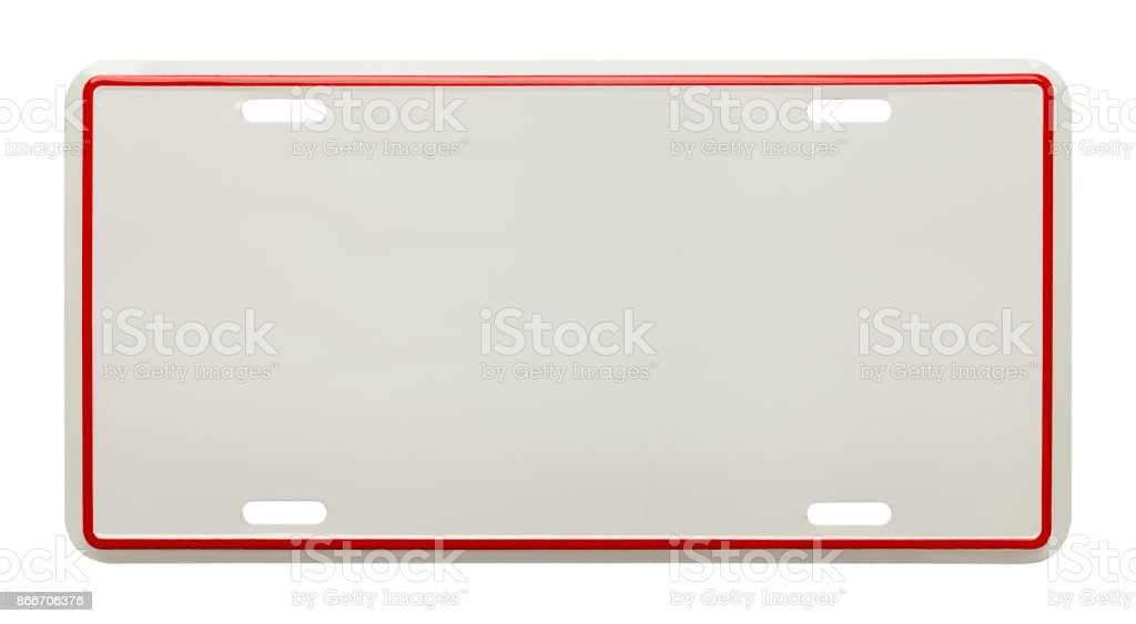 Blank License Plate stock photo