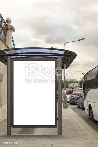 istock Blank light box billboard mockup 825303708