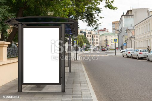 istock Blank light box billboard mockup 825306164