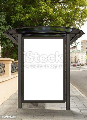 istock Blank light box billboard mockup 825306218