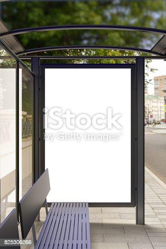 istock Blank light box billboard mockup 825306266