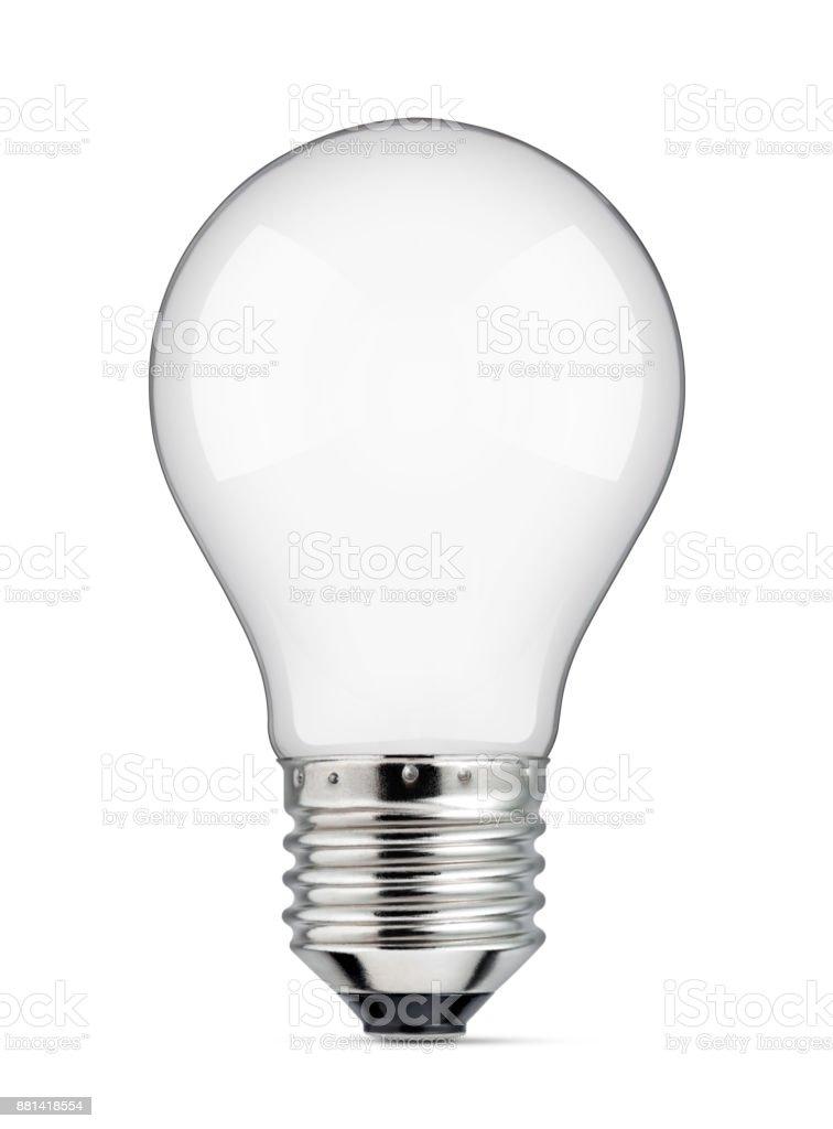 Blank light bulb stock photo