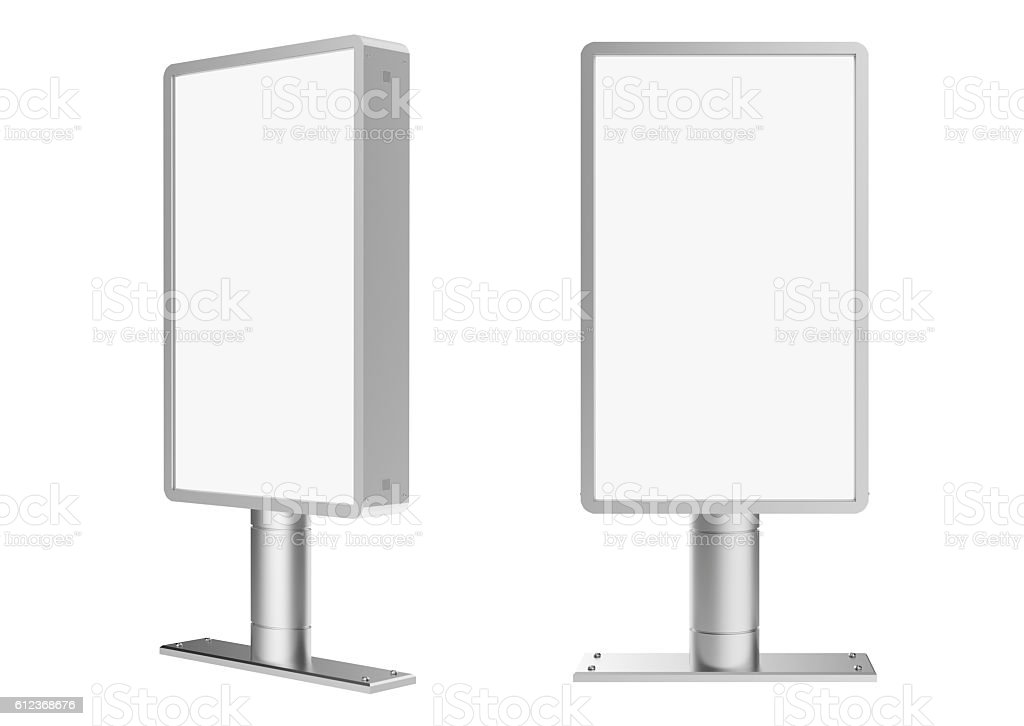 blank lightbox stock photo