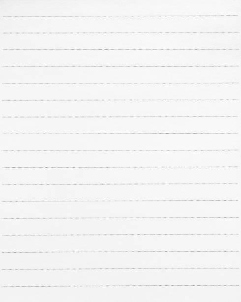 blankrad papper bakgrund. vitboken och punkter linje för skrivning eller memo. - linjerat papper bakgrund bildbanksfoton och bilder