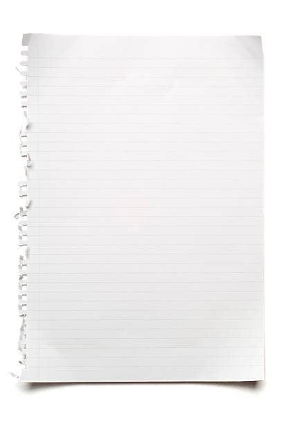 blank lined sheet of paper on white - linjerat papper bakgrund bildbanksfoton och bilder