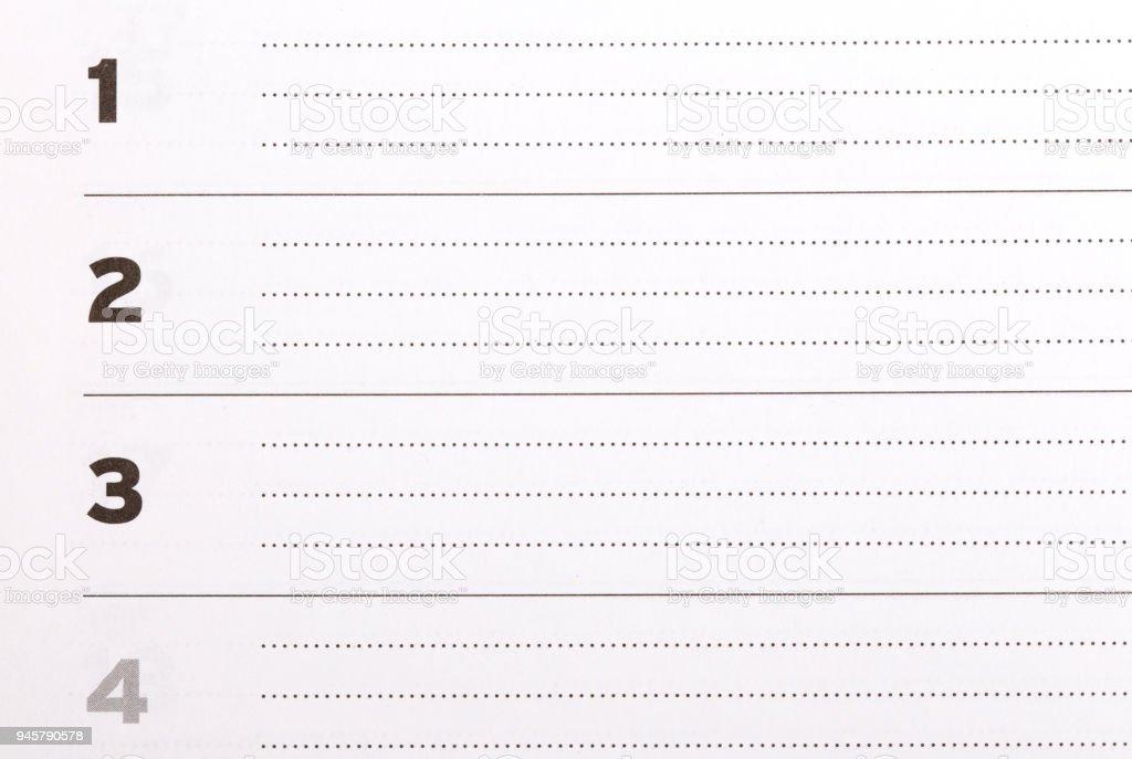 blank list form paper to do list stock photo more pictures of