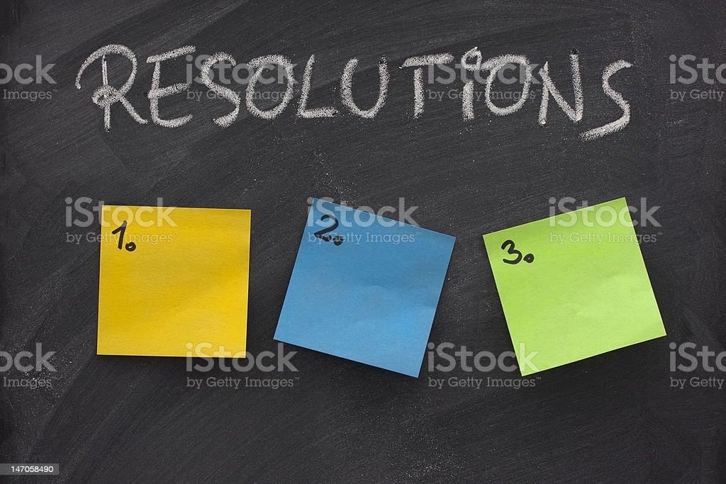 blank list of resolutions on blackboard royalty-free stock photo