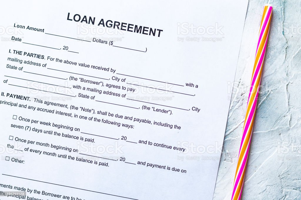 Blank Loan Agreement Form Stock Photo Download Image Now