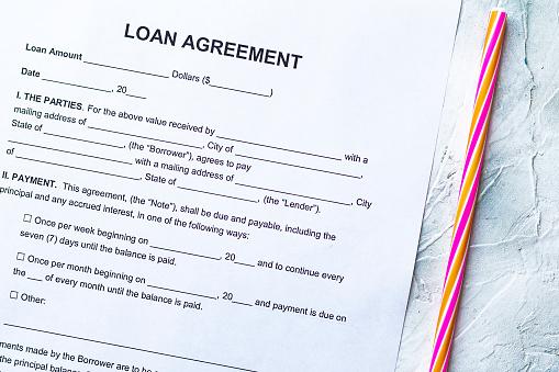 512011833 istock photo Blank Loan Agreement Form 1164211173