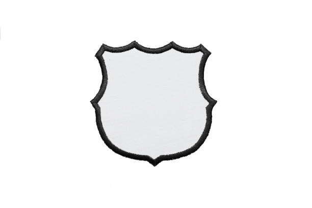 blank logo patch on white background - badge logo stock pictures, royalty-free photos & images