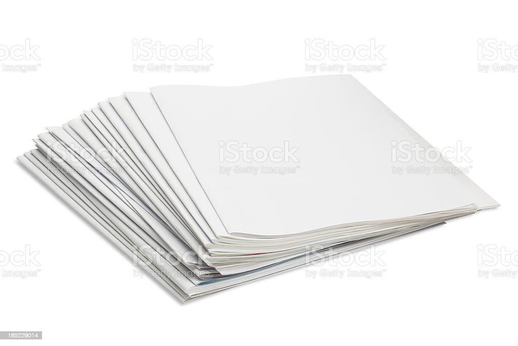 Blank magazine and book stock photo