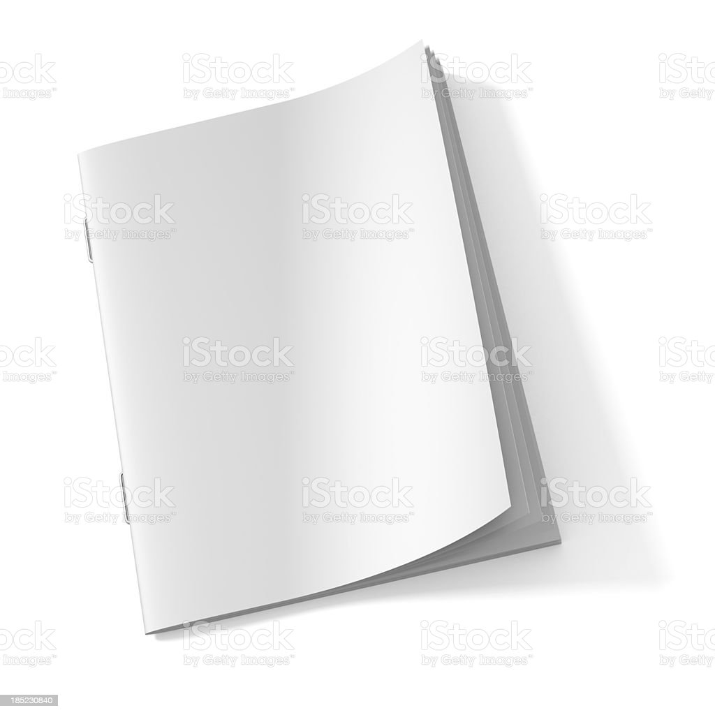 Blank Magazine book stock photo