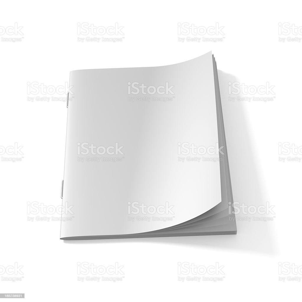Blank Magazine book stock photo