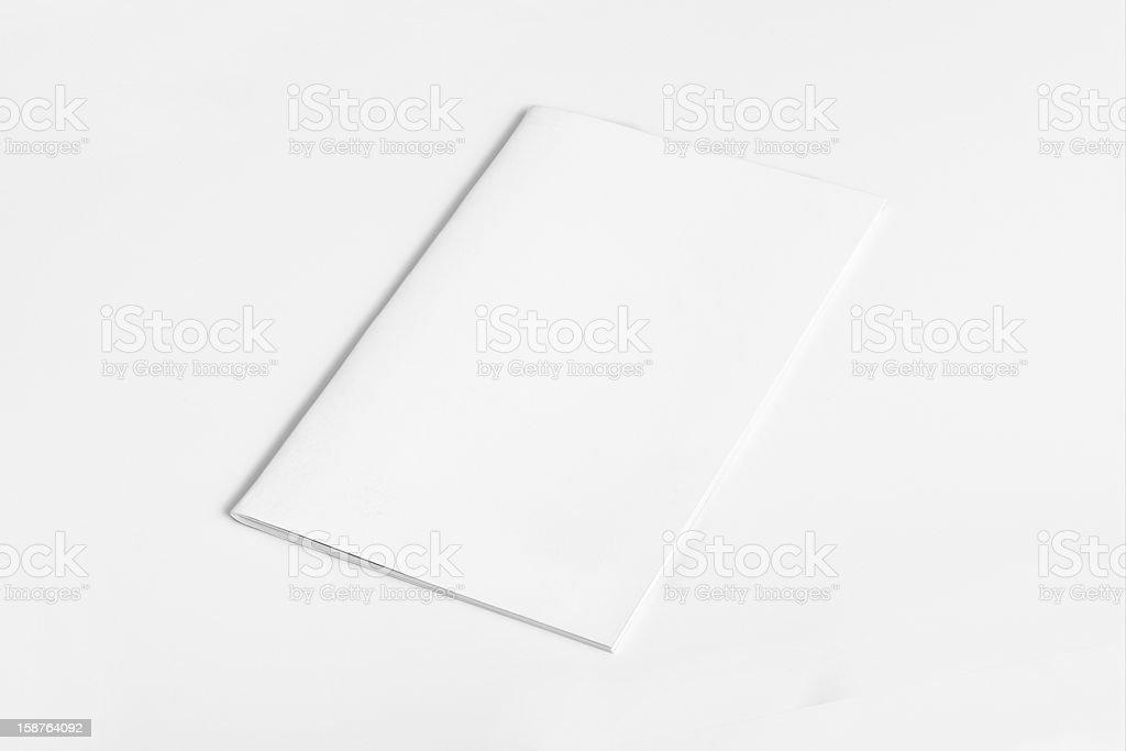 Blank Magazine Brochure Isolated royalty-free stock photo