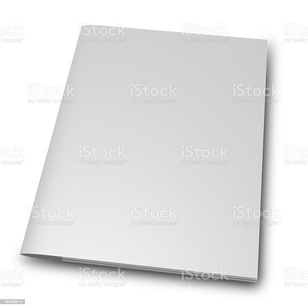 blank Magazine Brochure royalty-free stock photo