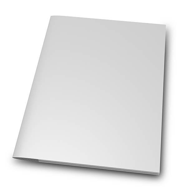 blank Magazine Brochure stock photo