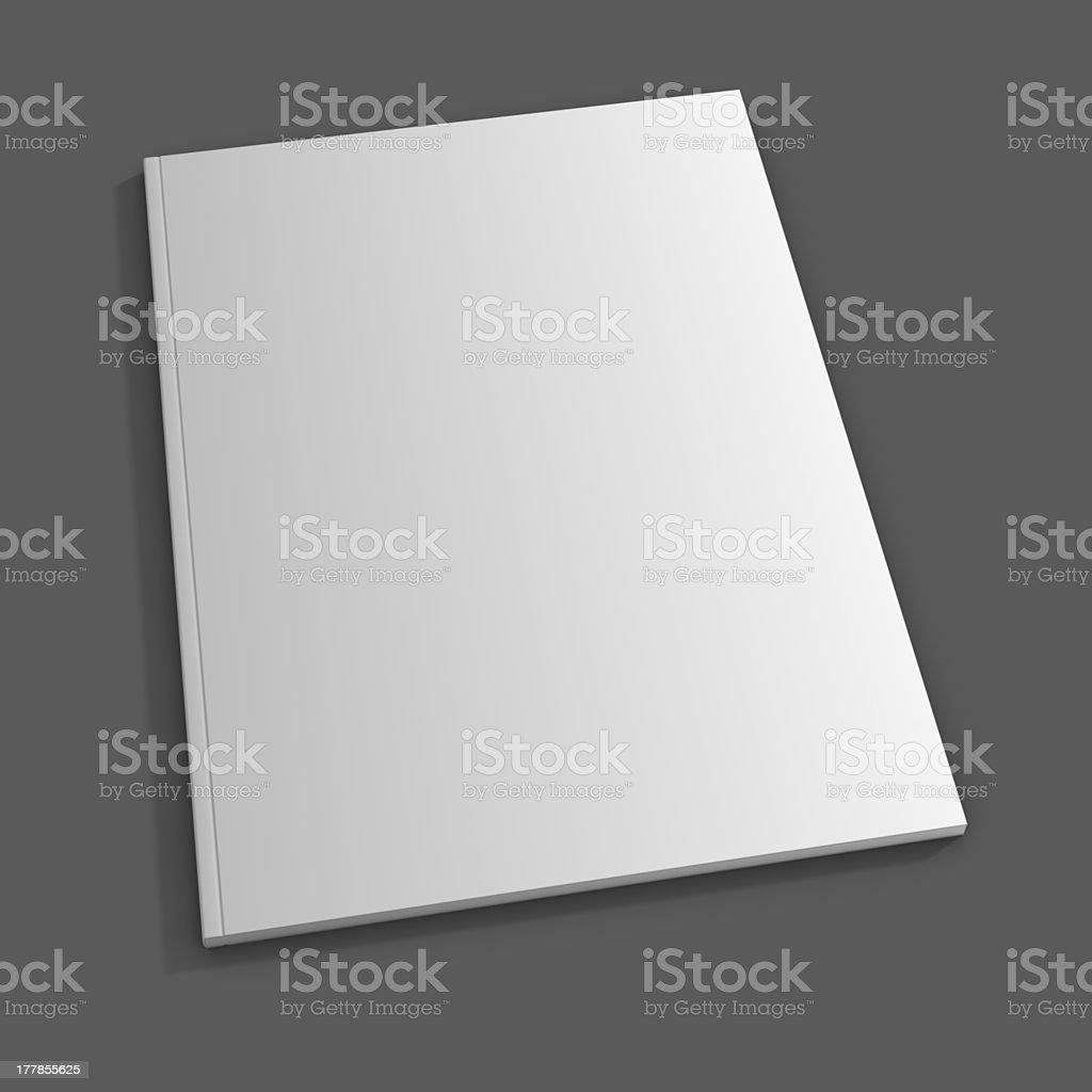 Blank magazine cover on gray background stock photo