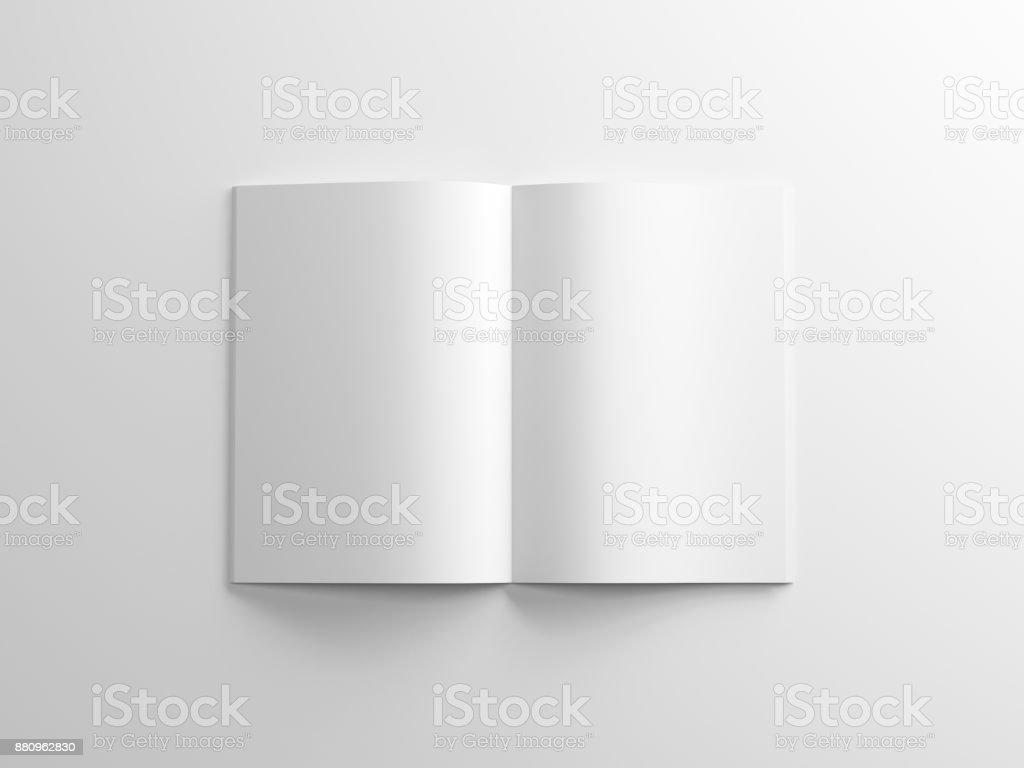 Leeres Magazin Mockup auf weißem Hintergrund, Album oder Broschüre - Lizenzfrei Bedecken Stock-Foto