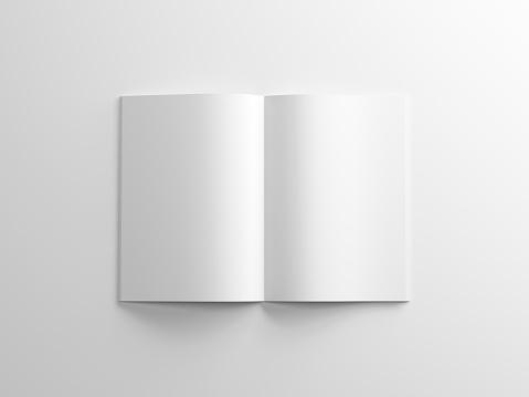 Leeres Magazin Mockup Auf Weißem Hintergrund Album Oder Broschüre Stockfoto und mehr Bilder von Bedecken