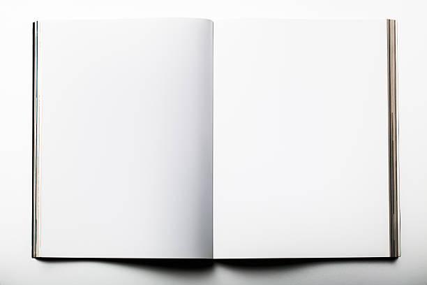 leere magazin auf weißem hintergrund - planner inserts stock-fotos und bilder