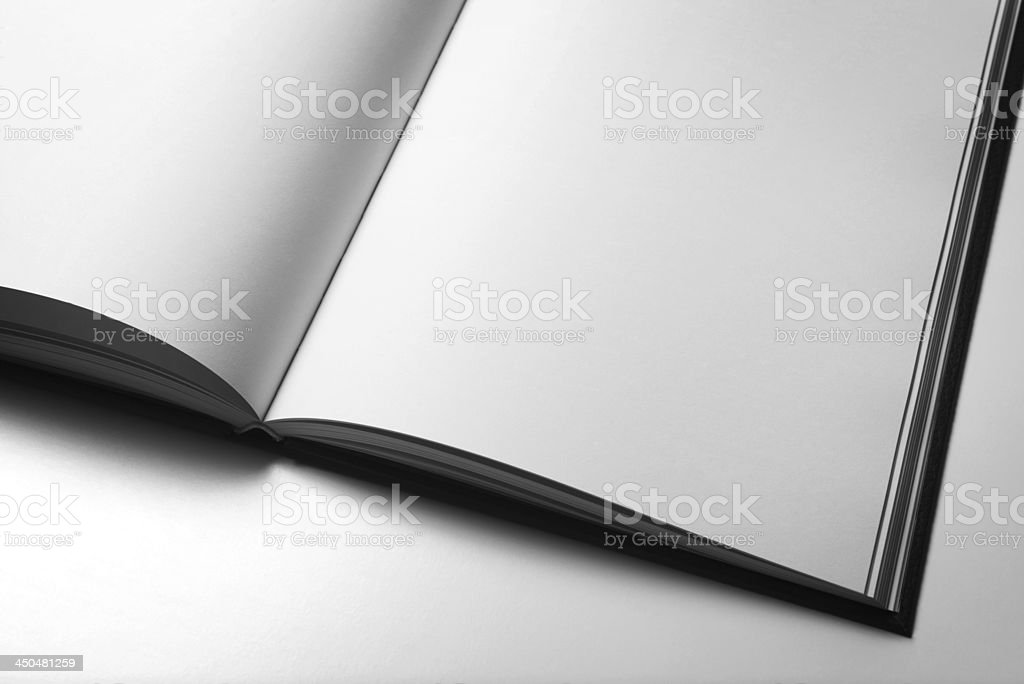 Blank magazine pages stock photo