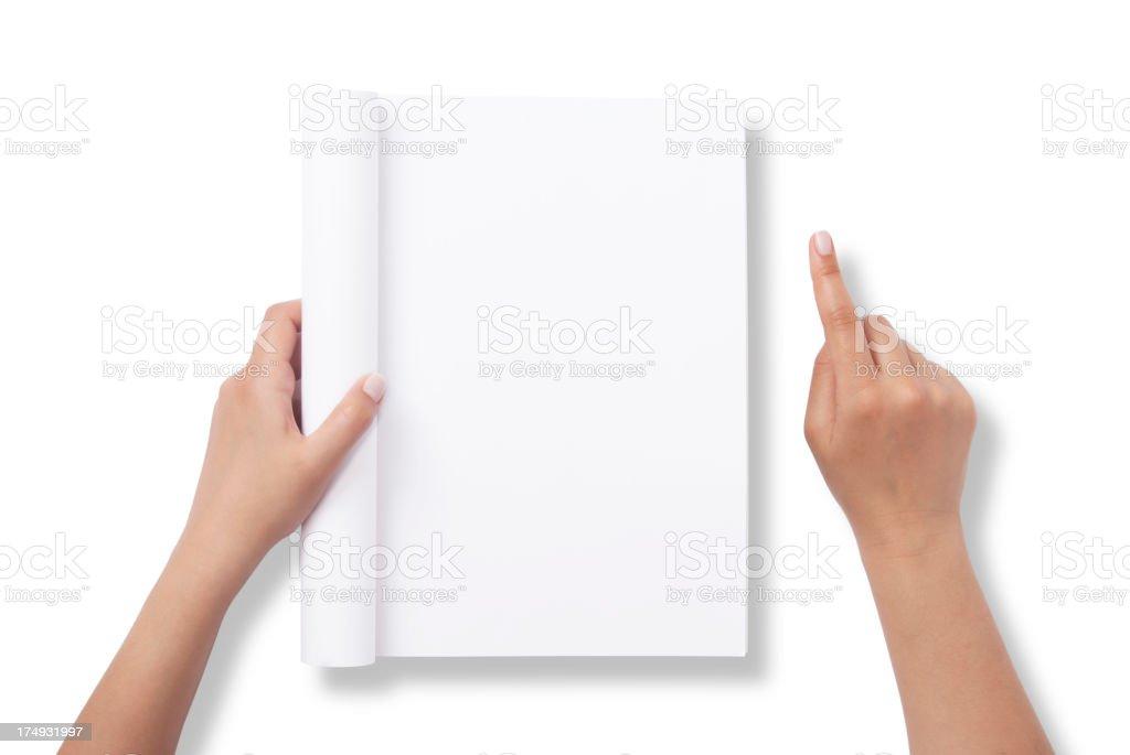 Blank Magazine stock photo