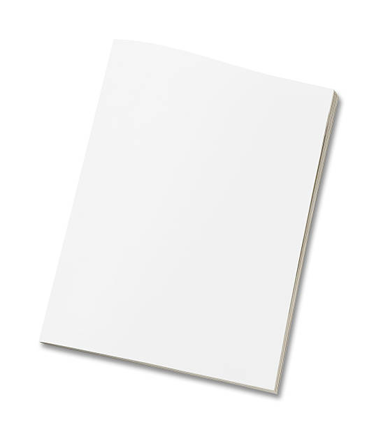 Blank magazine Blank magazine on white. catalog stock pictures, royalty-free photos & images