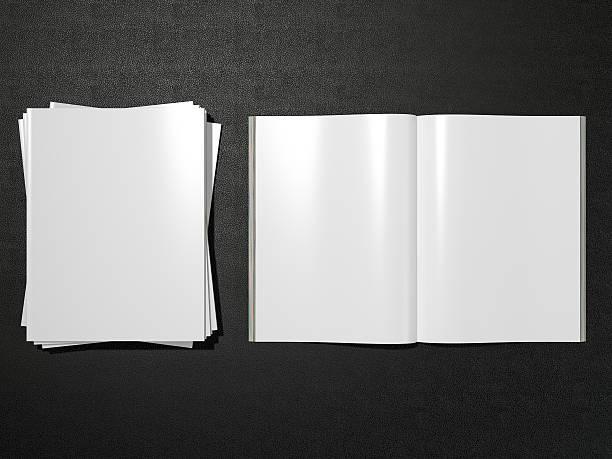 blank magazine - smeren stockfoto's en -beelden