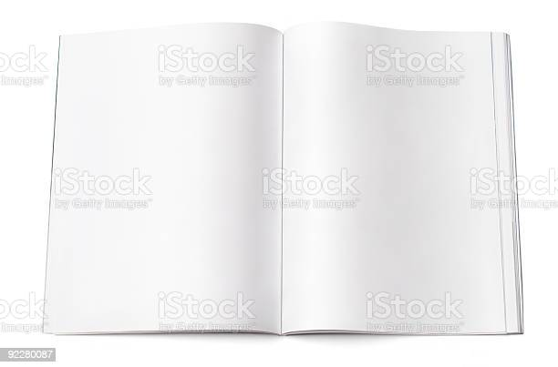 Blank Magazine Spread Stock Photo - Download Image Now