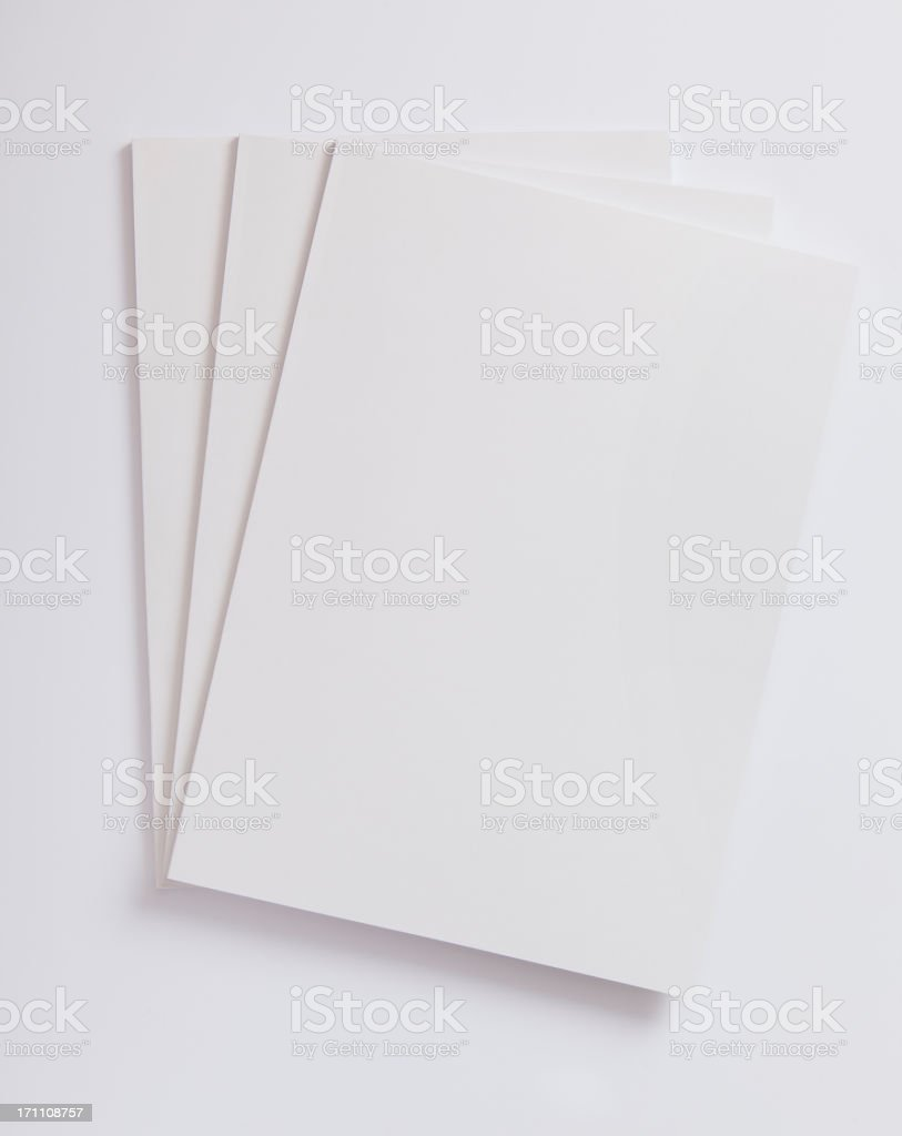 Blank magazines cover royalty-free stock photo