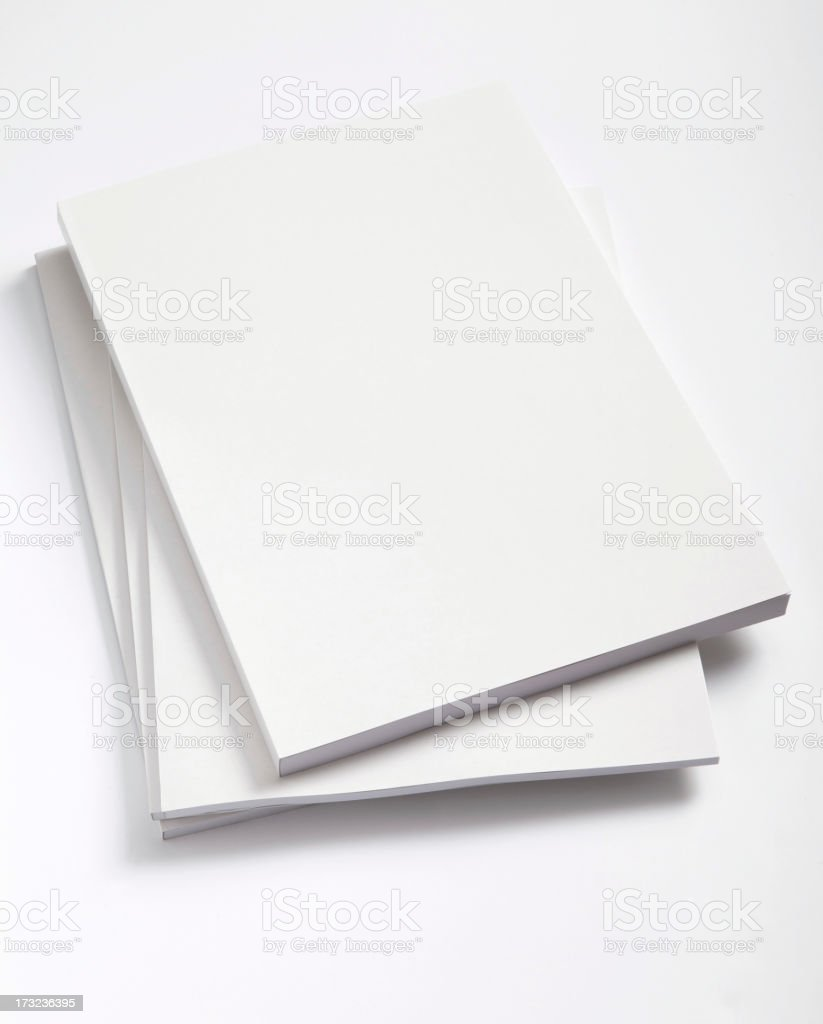 Blank magazines cover stock photo