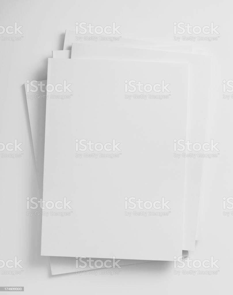 Blank magazines cover stock photo