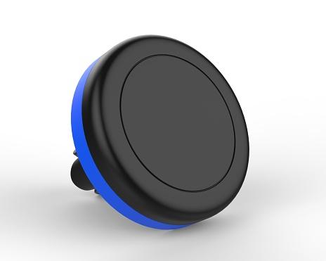 Blank Magnetic Car Air Vent Cell Phone Holder Car Mount Mobile Holder. 3d render illustration.