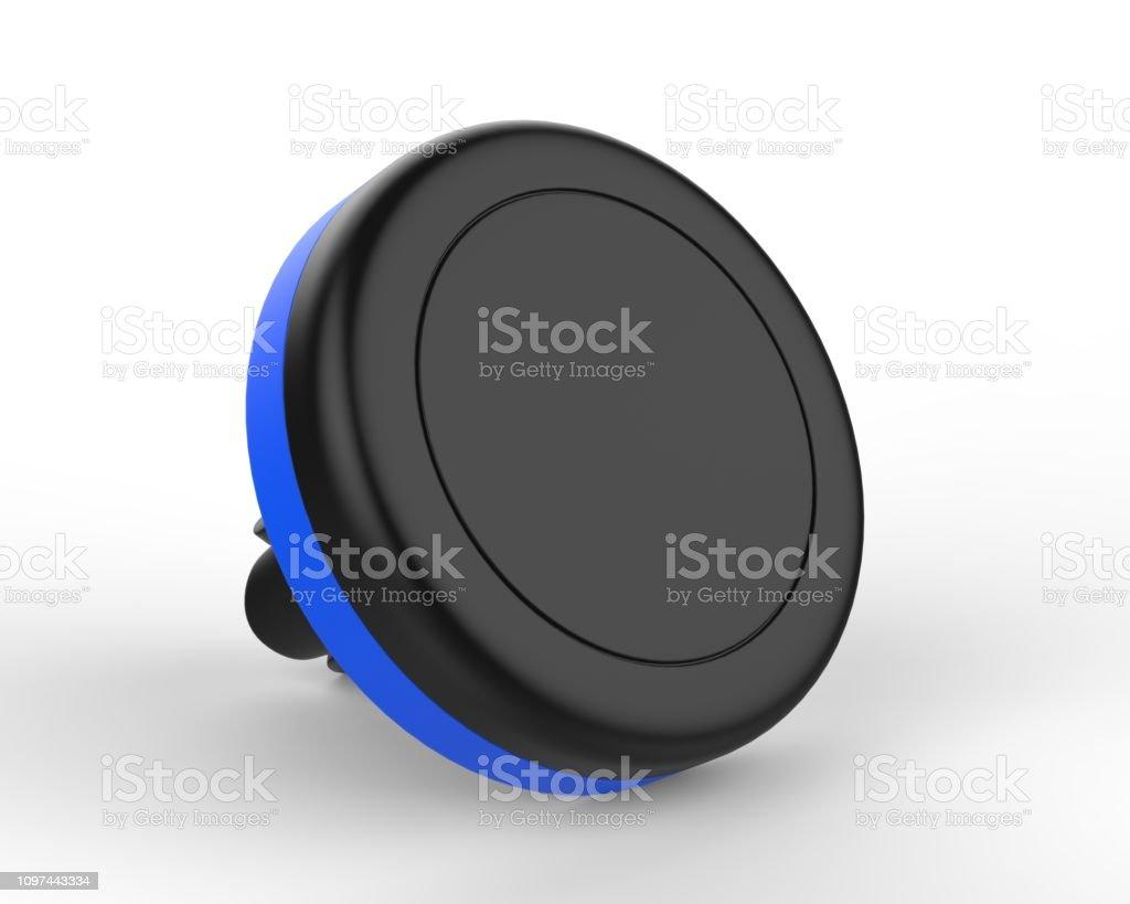 Blank Magnetic Car Air Vent Cell Phone Holder Car Mount Mobile Holder. 3d render illustration. - fotografia de stock