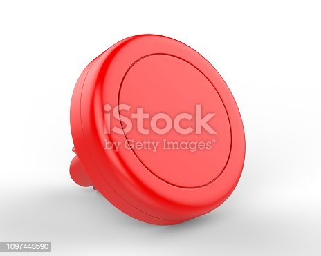 istock Blank Magnetic Car Air Vent Cell Phone Holder Car Mount Mobile Holder. 3d render illustration. 1097443590