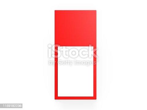 Blank Magnetic Notepad Fridge Magnet Notepad. 3d illustration.