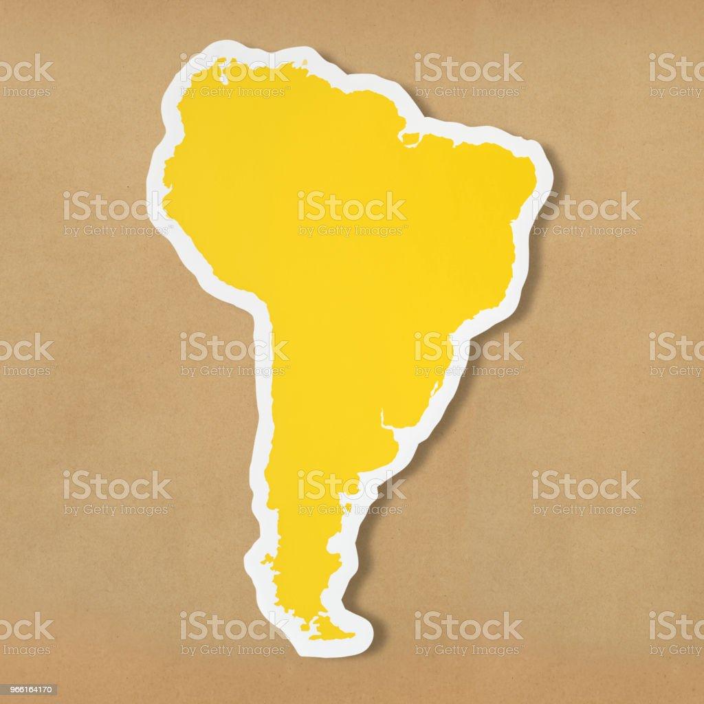 Leere Karte von Südamerika - Lizenzfrei Argentinien Stock-Foto