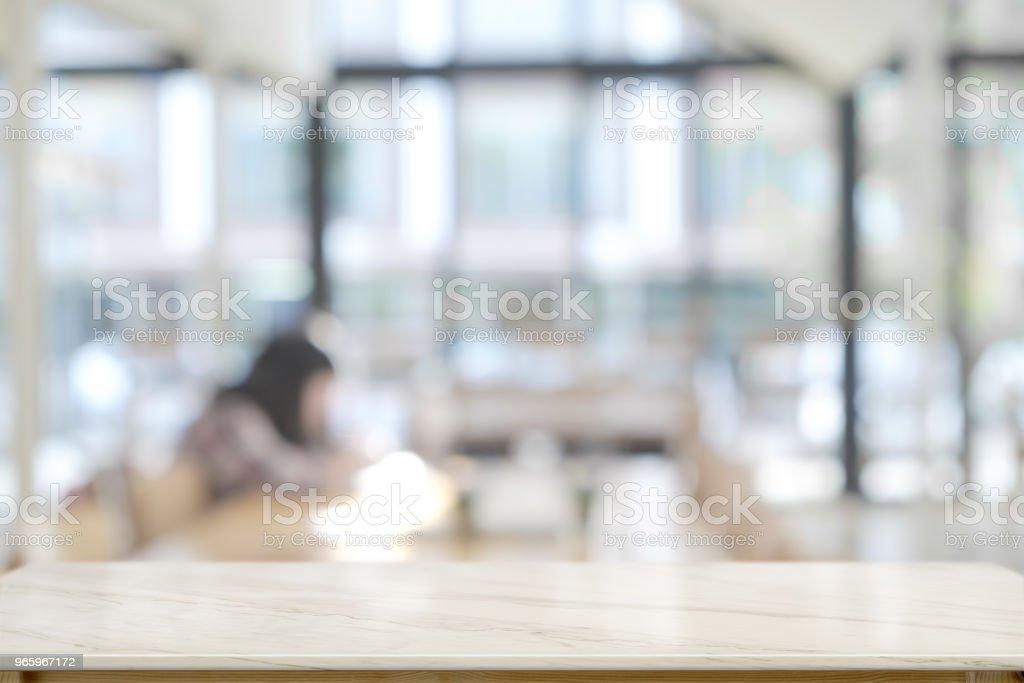 Leere Top Marmortisch und Co-Working-Hintergrund. für Produkt-Display-montage - Lizenzfrei Arbeiten Stock-Foto