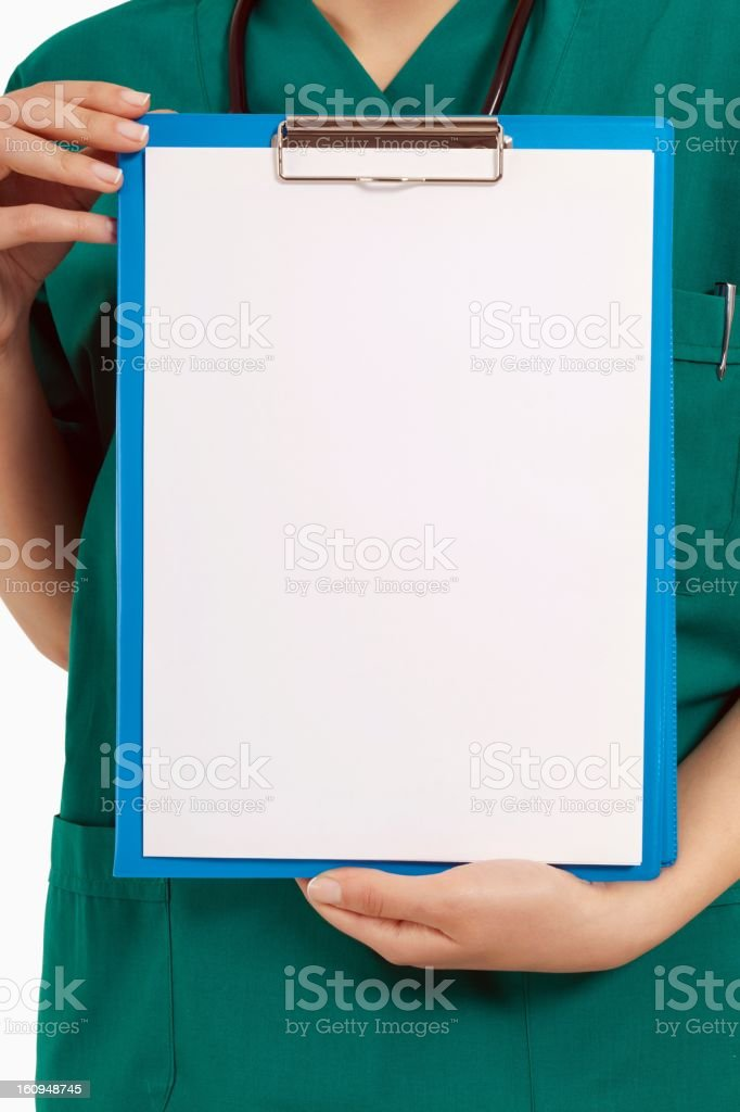 Blank Medical Clipboard royalty-free stock photo