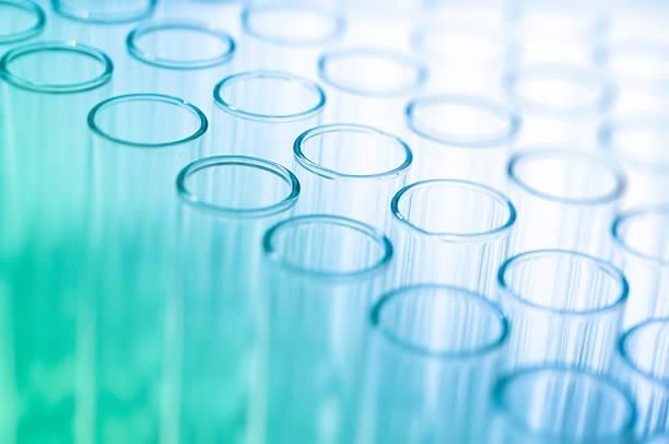 Blank medical test tubes stock photo