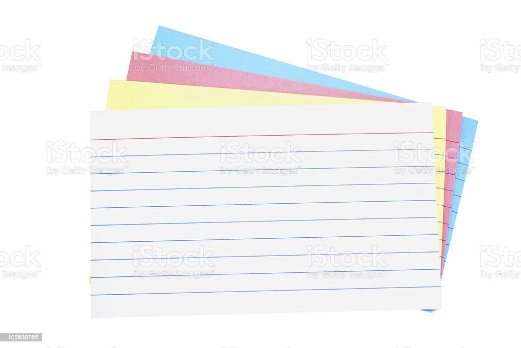 Blank Memo Cards Royalty Free Stock Photo