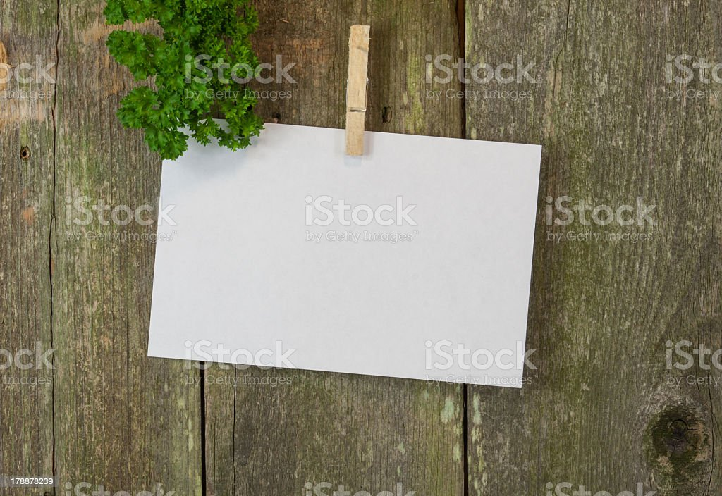 blank memo or menue space on wood royalty-free stock photo